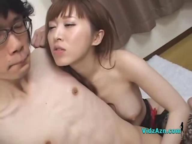 Asian Nipple Licking Handjob