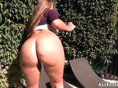 White girl with a thick round ass segment 3