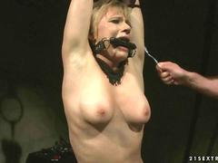 Nasty girl gets painfully punished