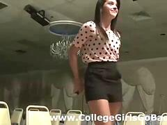 Stripping initiation for coed sorority girl