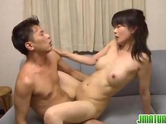 Asian babe is into deep fucking in her pussy