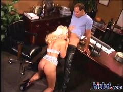 Nicole sucked this cock while kneeling