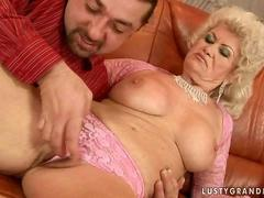 Naughty busty granny getting fucked