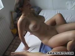 Amateur girlfriend with big tits sucks and fucks clip