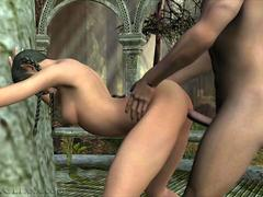 3D CGI Elf Babe Gets Fucked and Swallows