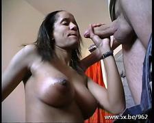 Black French milf gets her anal cherry popped