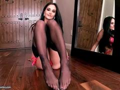 Ava Addams showing her sexy legs and feet