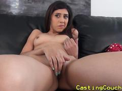 Shy casting couch x latina riding cock