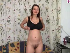 very skinny slut has a solo session for her pleasure