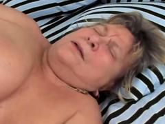 Fat granny sheds the pounds while getting fucked