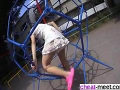 cute Asian babe moans and screams but she loves it
