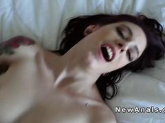 Hairy pussy girlfriend anal banged