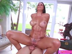 Sexy officer Rachel Starr hooks up with her long loast friend and gets banged hard