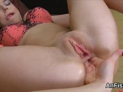 Naughty lesbo sex kittens are opening up and fisting anal holes