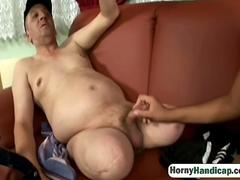 ... Hairy pussy brunette riding handicapped blowjob