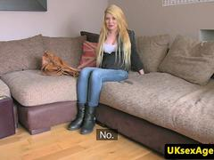 Brit auditions on casting couch with agent
