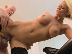 Tia Layne survives a hardcore drilling delivered from behind