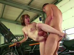 Petite German Teen Seduce to Fuck for Payment by Stranger