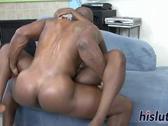 Desirable Osa rides on a stiff member