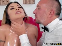 Butler perv fucks hot wife Kaylani Lei