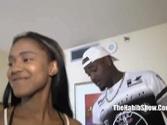 19 yr. queen blue fucks bbc trojanman in the hood feature