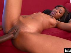 Alize rode a large black dick