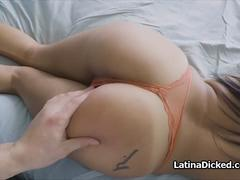 Messy and perky Latina room mate fucked