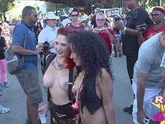 Hot Young Street Flashers Revealed at Fantasy Fest Key West