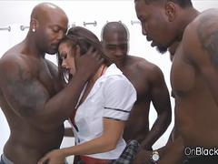 Big black cock in bigtits every hole