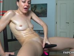 Incredible Shaved Milf Showing Her Goods