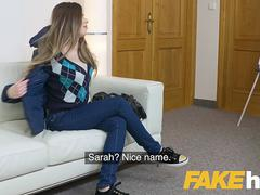 Fake Agent Sexy models tight pussy gets fucked on casting couch