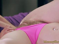 Busty milf sixtynines hairy stepdaughter