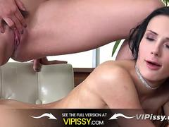 Vipissy - Pissing lesbians Nicol Love and Emilya Argan get soaked