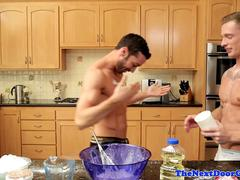 Real stud assfucked by muscle jock