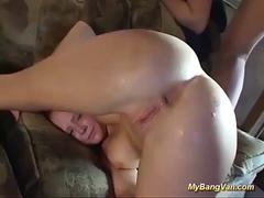 her first rough anal bangvan party