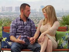 Jason and Chloe arrive to the swingers mansion for some extremely hot fun