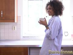 Dane Jones Blowjob and afternoon quickie in kitchen with black Brazilian
