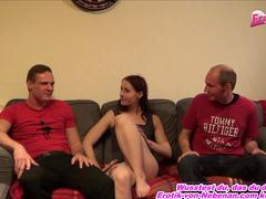 German real girl next door first time homemade threesome mmf