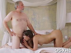 Old cock enters  pussy