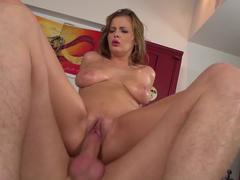 sweet Cintia Doll with big naturals gets rough fucked