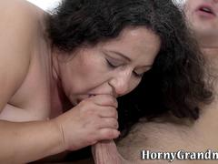 Chubby granny gets banged