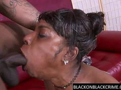 Black cock sucker throated by BBC