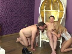 Femdom Sluts suck cocks of real men and cuckolds must watch this!