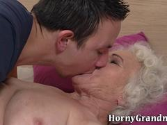 Old lady fucked for cum