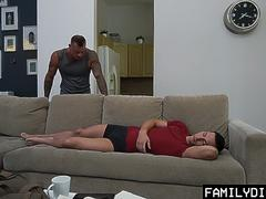 FamilyDick - Muscular Step Daddy Breeds His Boys Tight Hole