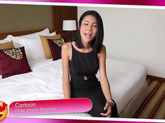 21yo busty Thai shemale loves fucking and sucking white tourist cocks