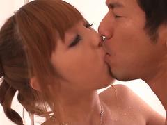 Real Japanese home romance with hairy Anri Hoshizaki - More at 69avs.com