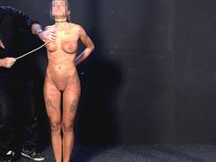 Two experienced slaves brutally whipped and caned