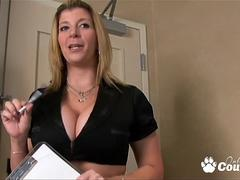 Big tits and ass Sara Jay gets punished by two giant dongs