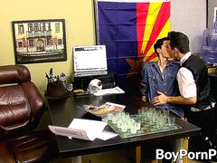 Twink lawyer gives client the ass service of a lifetime